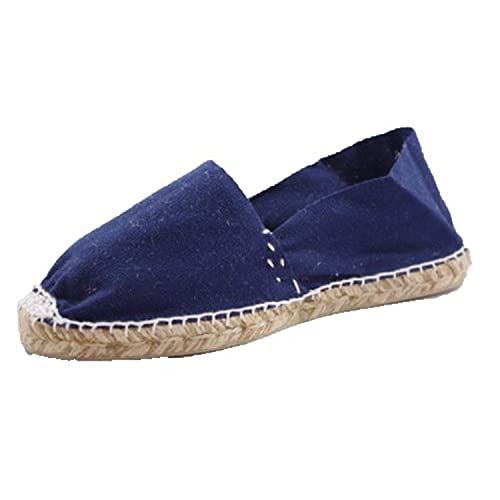 Alpargatas de Esparto Plana Made in Spain en Azul Marino: Amazon.es: Zapatos y complementos