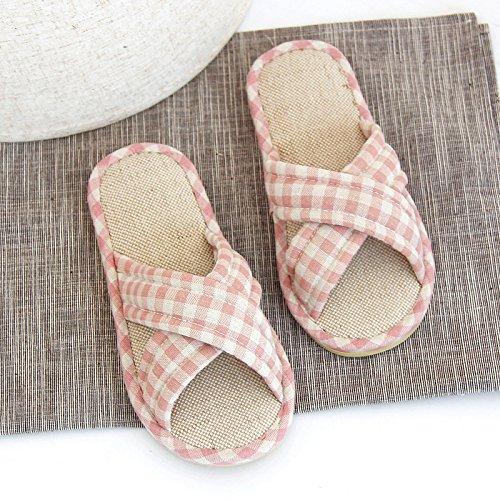 home cotone antiscivolo 17cm H interno bella scarpe con coppie fankou impermeabili in di soggiorno rosa 27 26 pantofole femmina pantofole spesse 5cm 17 da estate biancheria biancheria 7TFvIz