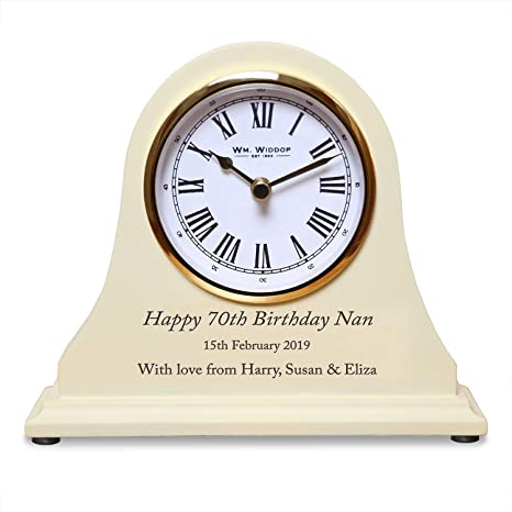 39f0fec018d De Walden Girl s 70th Birthday Gift Engraved Wooden Clock 70 Years Gifts  for Women Girls  Amazon.co.uk  Kitchen   Home