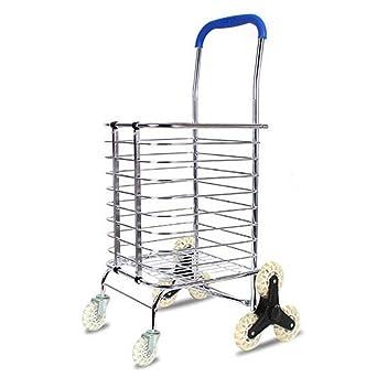 Carro de la compra plegable, escalera escalada Rolling práctico carrito de compras de comestibles utilidad