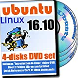 Ubuntu 16.10, 4-discs DVD Installation and Reference Set