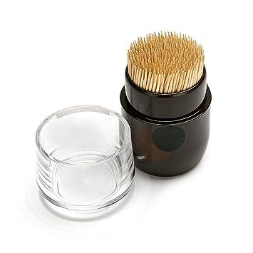 MyLifeUNIT japonés palillo de dientes dispensador de soporte, marrón palillo de dientes dispensador para Cocina