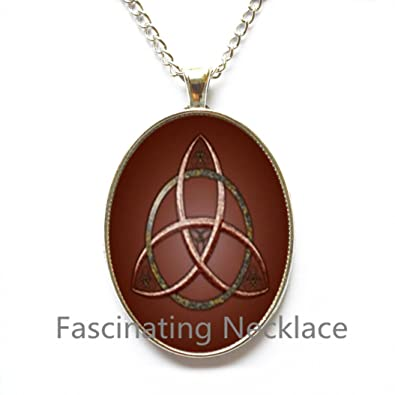 Amazon Celtic Knot Triquetra Necklace Celtic Trinity Necklace