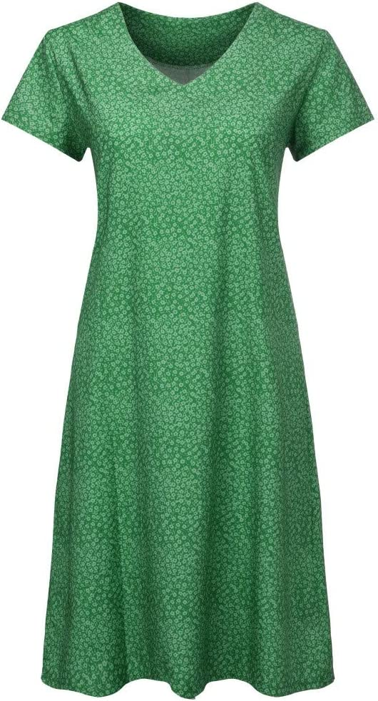 Green,XXXL Summer Dresses For Women Clearance Casual Summer Floral Print V-Neck Short Sleeve T-shirt Dress Mini Dress For Anniversary,Party,Valentines Day