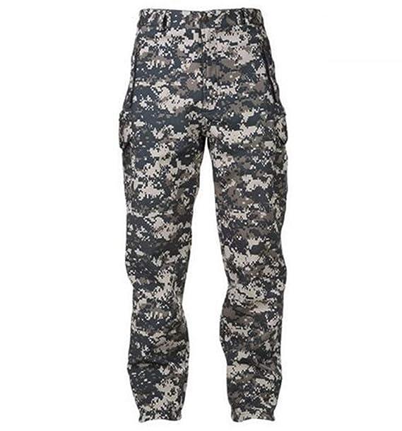 Okayit Piel de tiburón Softshell táctico Militar Pantalones de Camuflaje Hombres ejército de Invierno Impermeable térmica Camuflaje Caza Pantalones de Lana ...