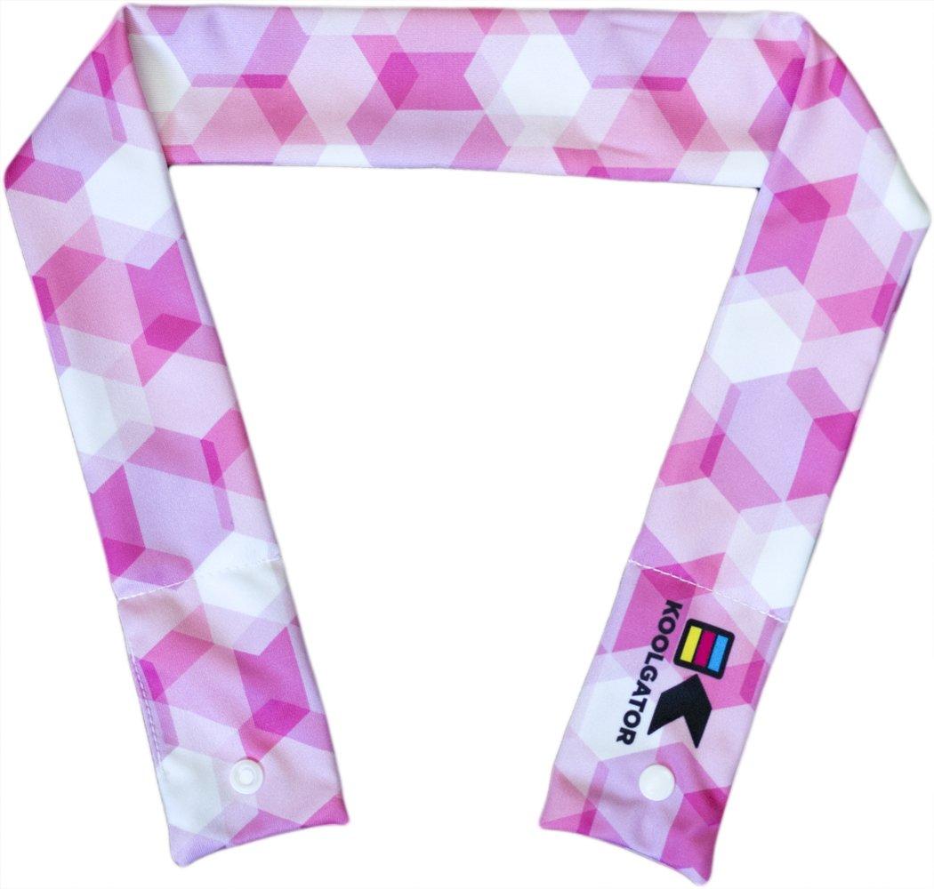 koolgator冷却ネックラップ  Pink Geometric Design B075G1S4LK