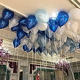 GrandShop 50329 Toy Balloons Metallic HD Blue, White & Light Blue (Pack of 50)