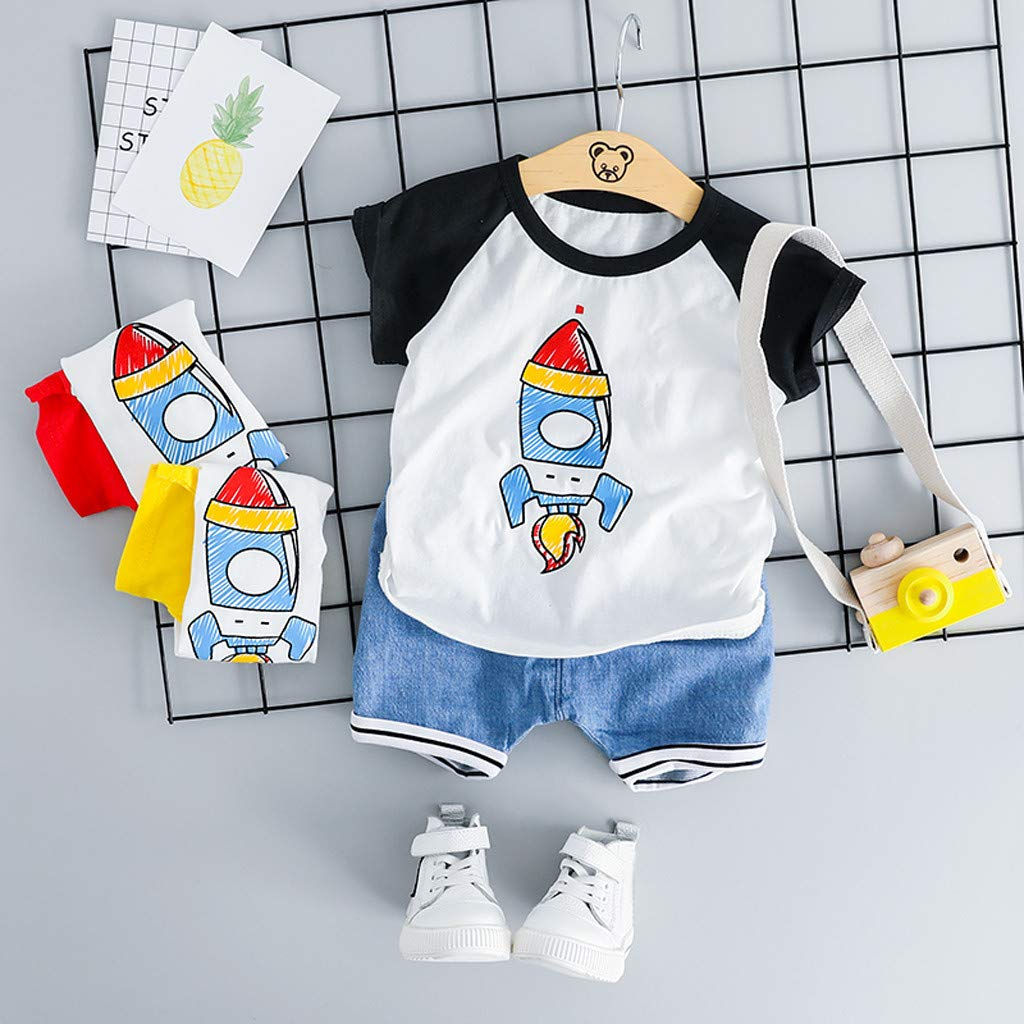 Baby Cartoon Lion Outfits,Suma-ma Kids Boy Girl Animals Tops T-shirt Solid Short Pants Casual Playsuit 2Pcs Set