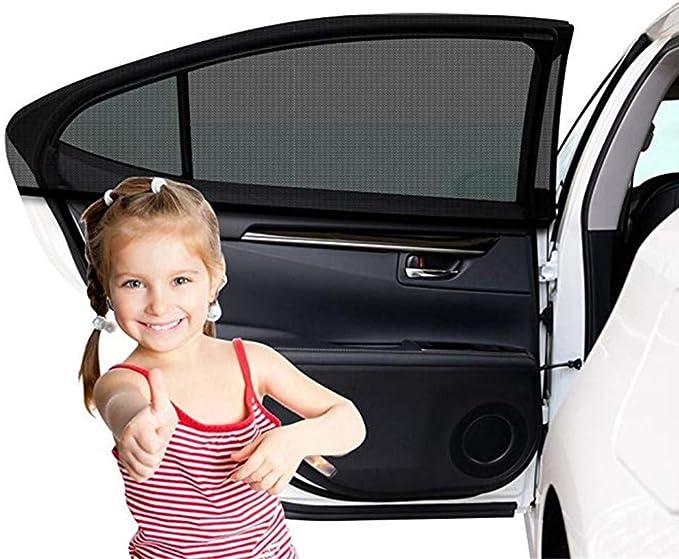 Sonnenschutz Auto 2 Stück Sonnenschutz Fürs Auto Baby Mit Uv Schutz Selbsthaftende Sonnenblende Auto Kinder Autosonnenblende Auto Sonnenschutz Netz Autofenster Sonnenschutzrollos Heckscheibe Auto