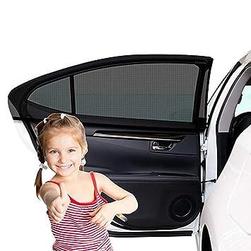 Sonnenschutz Auto Baby mit UV Schutz Sonnenschutz Auto f/ür Kinder Baby Erwachsene Haustiere 2 St/ück farbig Selbsthaftende Universal Sonnenblende Auto Autofenster Sonnenschutzrollos Heckscheibe