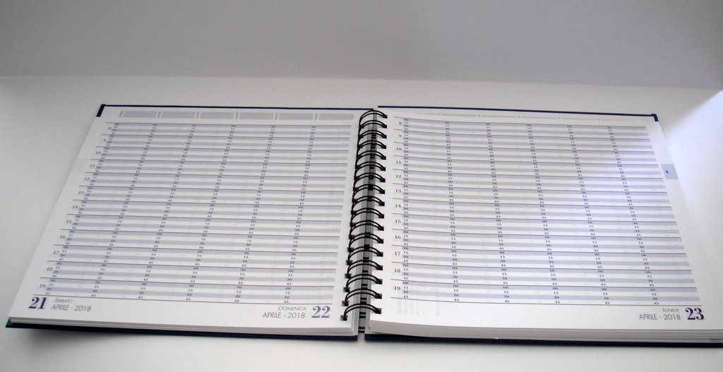 Agenda 2018 - Agenda ideal para citas - División horaria en ...