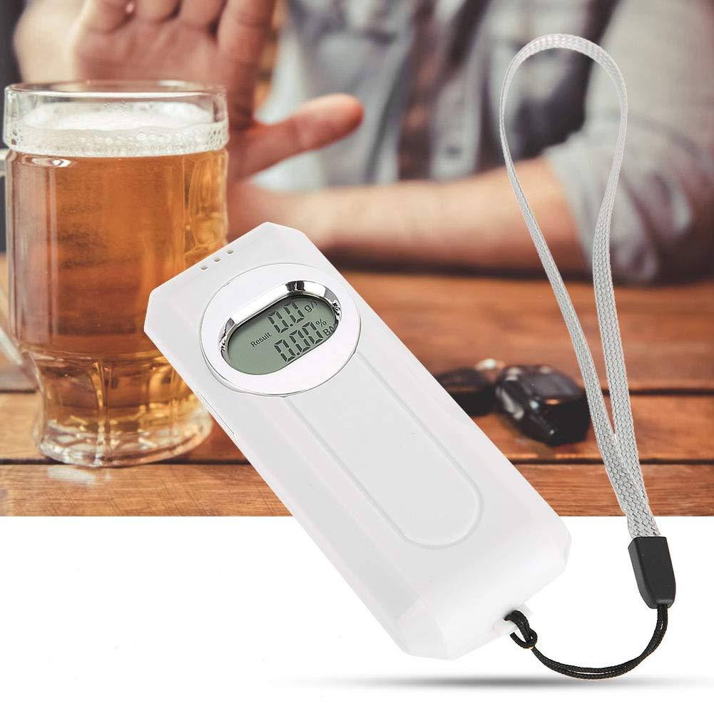 Digitaler Atemalkohol-Detektor Tragbarer Alkohol-Analysator Einfache Bedienung ben/ötigen 2 AAA-Batterien Semme Alkoholtester Nicht enthalten