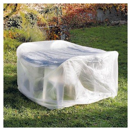 OSE Housse de protection table ronde de jardin - Blanc - 110 cm ...