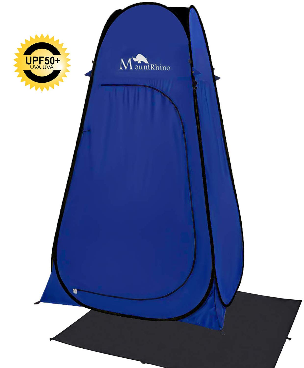MountRhino 6.9ft Pop Up Changing Shower Tent,UV Protection Privacy Tent Shelter,Portable Shower Toilet Bathroom for Camping Beach Dressing Cabana with rainfly and Ground Sheet (Black) by MountRhino