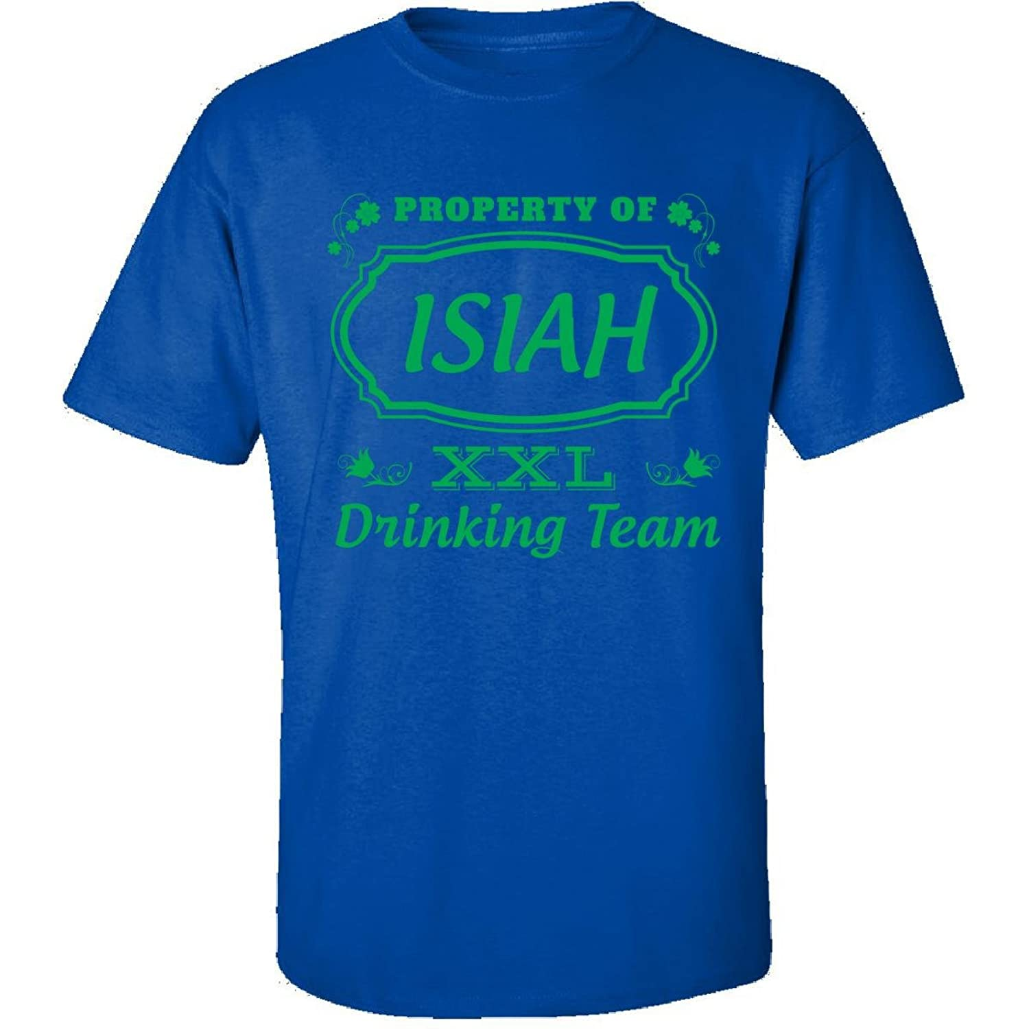 Property Of Isiah St Patrick Day Beer Drinking Team - Adult Shirt
