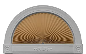 "Original Arch Light Filtering Fabric Shade, Natural, 72"" x 36"""