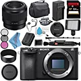 Sony Alpha a6500 Mirrorless Digital Camera (Body) ILCE6500/B + Sony FE 50mm f/1.8 Lens SEL50F18F + NP-FW50 Replacement Lithium Ion Battery + External Rapid Charger + Deluxe Cleaning Kit Bundle