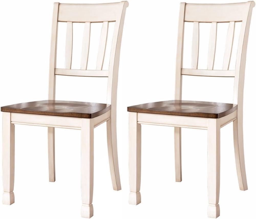 Amazon Com Ashley Furniture Signature Design Whitesburg Dining Room Side Chair Set Vintage Casual Set Of 2 Two Tone Furniture Decor