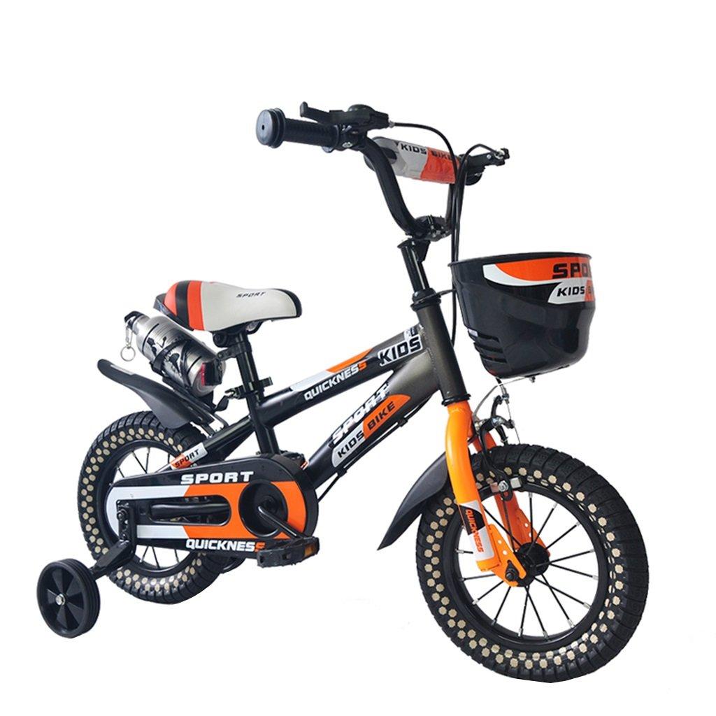 キッズ自転車バイク2-8歳の赤ちゃん男の子の少女自転車オレンジ100kg (サイズ さいず : 18inch) B07F2J27CV 18inch 18inch