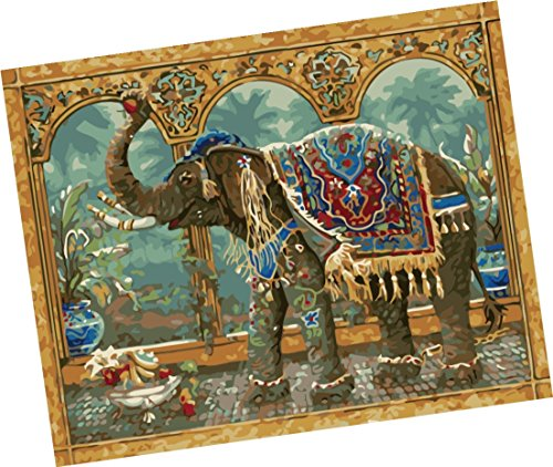 Wowdecor Paint by Numbers Kits for Adults Kids, Number Painting - Thai Elephant 16x20 inch (Frameless) by Wowdecor