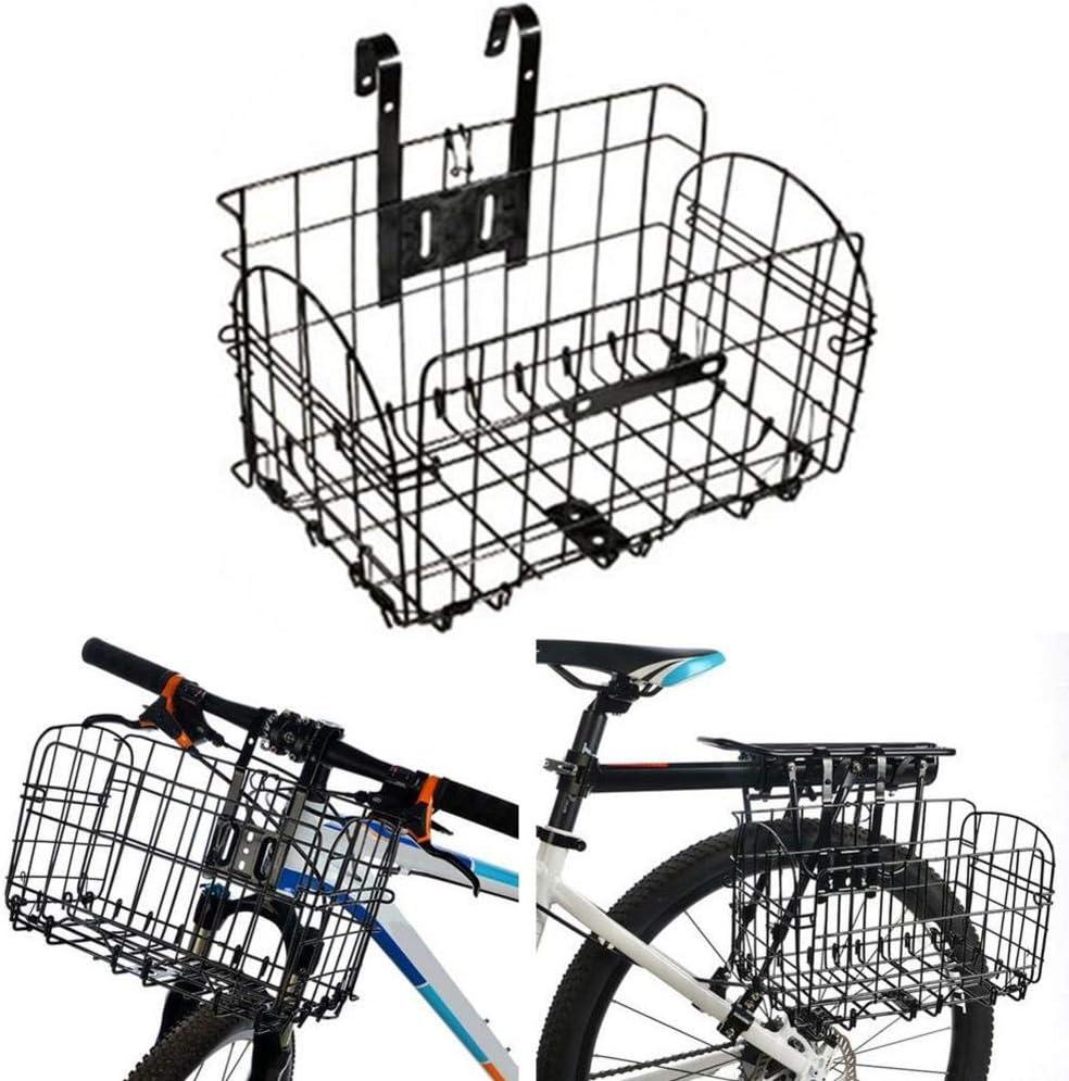 Hete-supply - Cesta Delantera para Bicicleta, para Perros, para Bicicleta de montaña, Plegable, para Mascotas, para Hombres, Color Negro: Amazon.es: Coche y moto