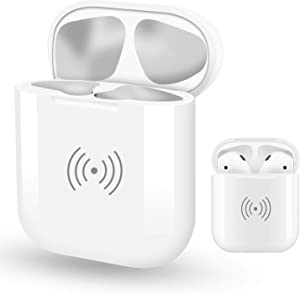 Luvvitt Wireless Charging Case Replacement for Airpods, Case for Apple Ear Buds Headphones - (Does NOT Have Bluetooth Pairing Button - for Charging Only) 2019 - Airpods Not Included