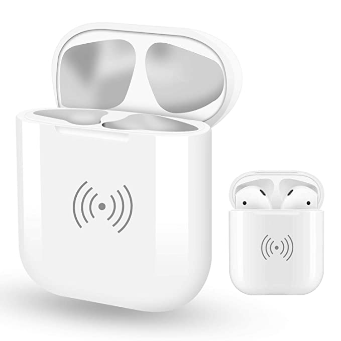 new concept 34d58 a444a Amazon.com: Wireless Charging Case Replacement for Airpods, Luvvitt ...
