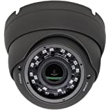 SVD HD TVI 1080P Outdoor Turret Dome 2.8-12mm Varifocal Security Camera with IR Night Vision Black