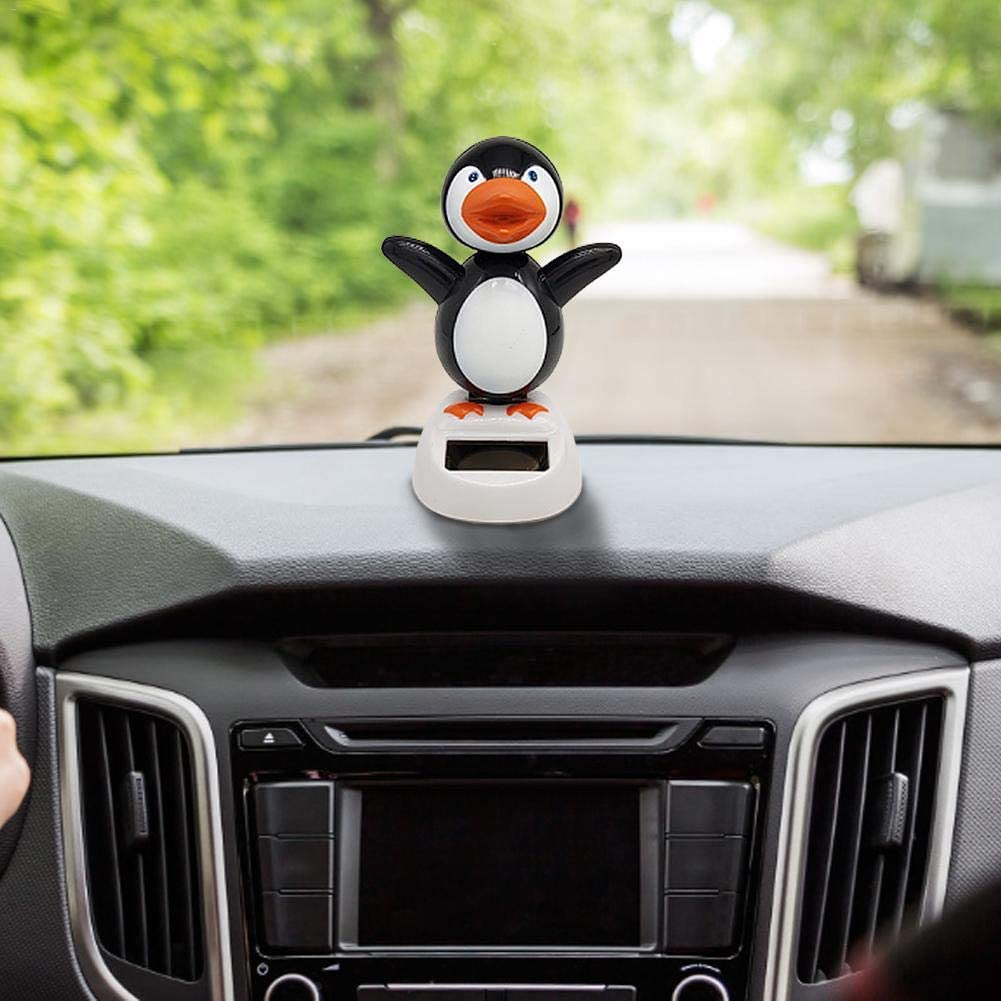 Never-hu Solar Dancing Toy Solar-Powered Dance Swinging Doll Cute Penguin Figure Toy Home Ornaments Car Dashboard Decoration