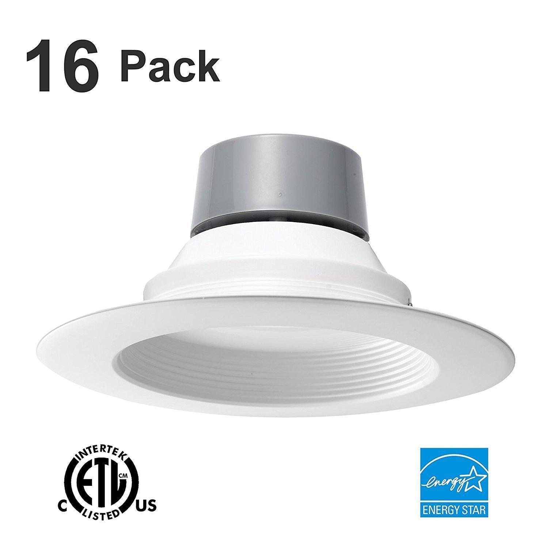 16 Pack 12W (65W Equivalent) 5/6'' LED Recessed Downlight Retrofit Can Light ENERGY STAR 4000K 780 Lumen CRI90