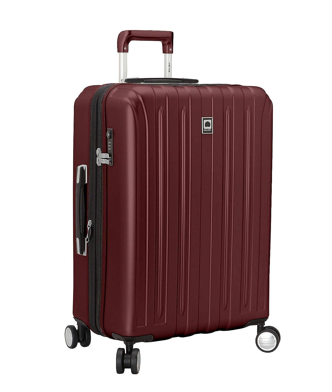 (デルセー) Delsey Men`s Helium Titanium 25` Spinner Trolley デルシー メンズ スーツケース バッグ (並行輸入品) B07QBFQBRZ ブラックチェリー One Size