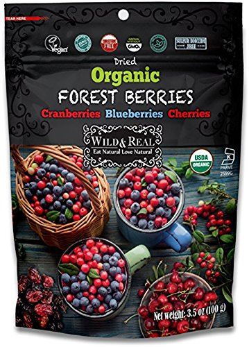 - Wild & Real, Dried Organic Forest Berries, Cranberries, Blueberries, Cherries