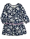Hatley Little Girls' Pom Pom Dress Field Flowers, Blue, 4T