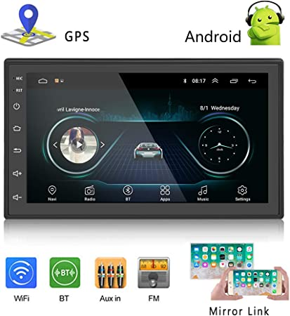 Podofo Car GPS Navigation Stereo - Double Din Android Head Unit