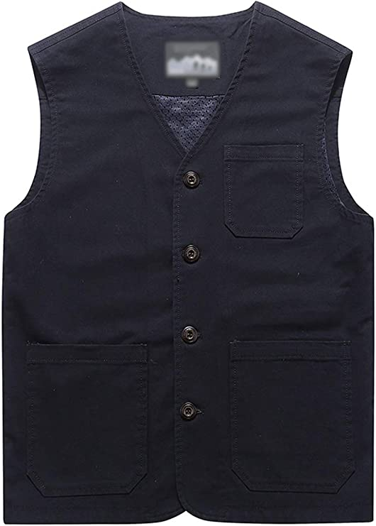 Victorian Men's Clothing, Fashion – 1840 to 1890s Flygo Mens Casual Cotton Outdoor Fishing Travel Safari Photo Vest with Pockets $32.98 AT vintagedancer.com