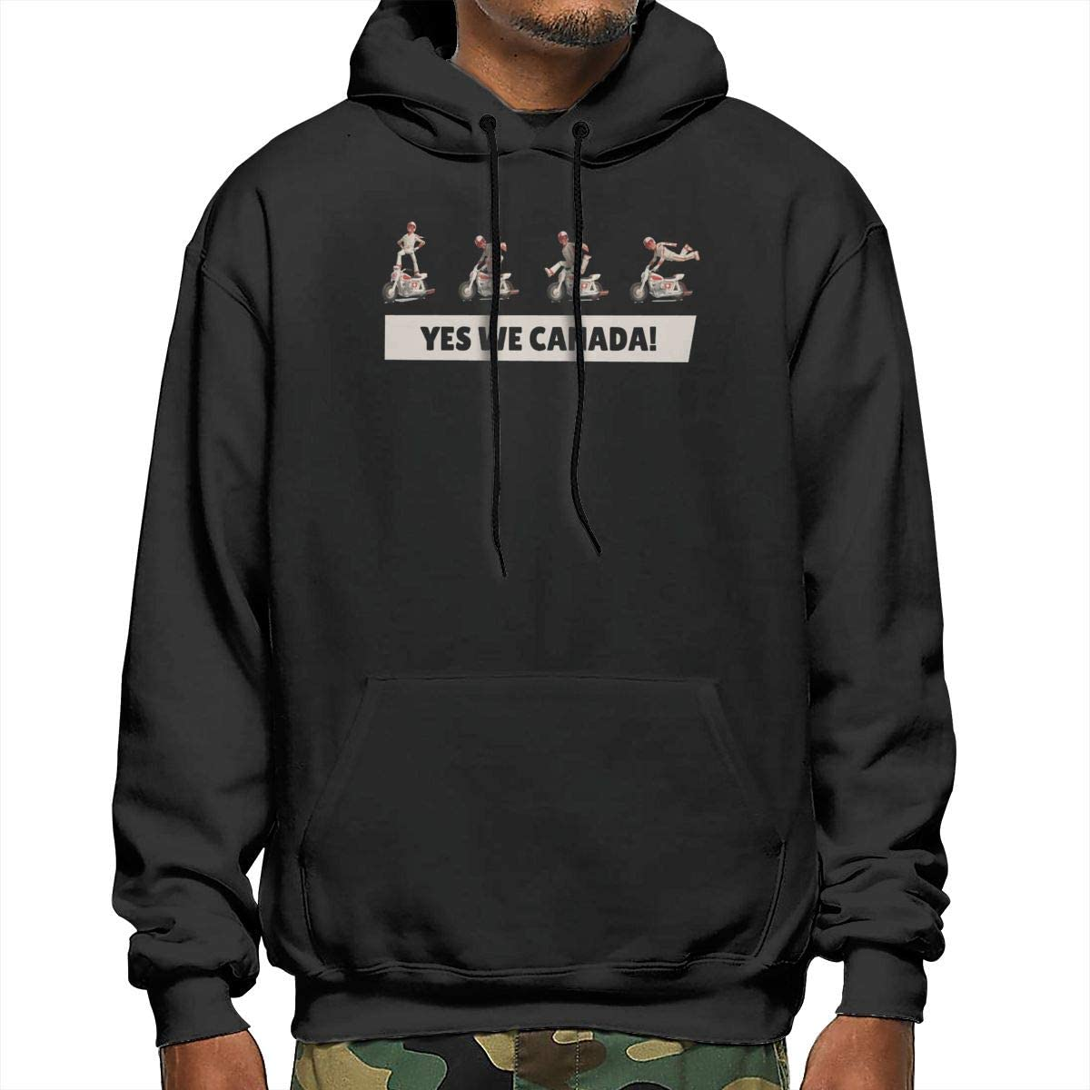Yes We Canada Fashion Mens Polyester Hoodie