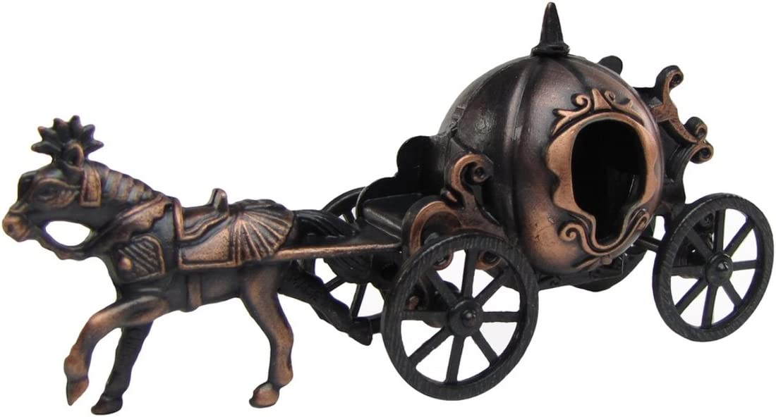 TG,LLC Treasure Gurus Metal Cinderella Pumpkin Horse &Carriage Miniature Die Cast Toy Pencil Sharpener