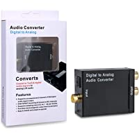 Artiste Digital Optical Coax to Analog RCA Audio Converter Adapter with Fiber Cable