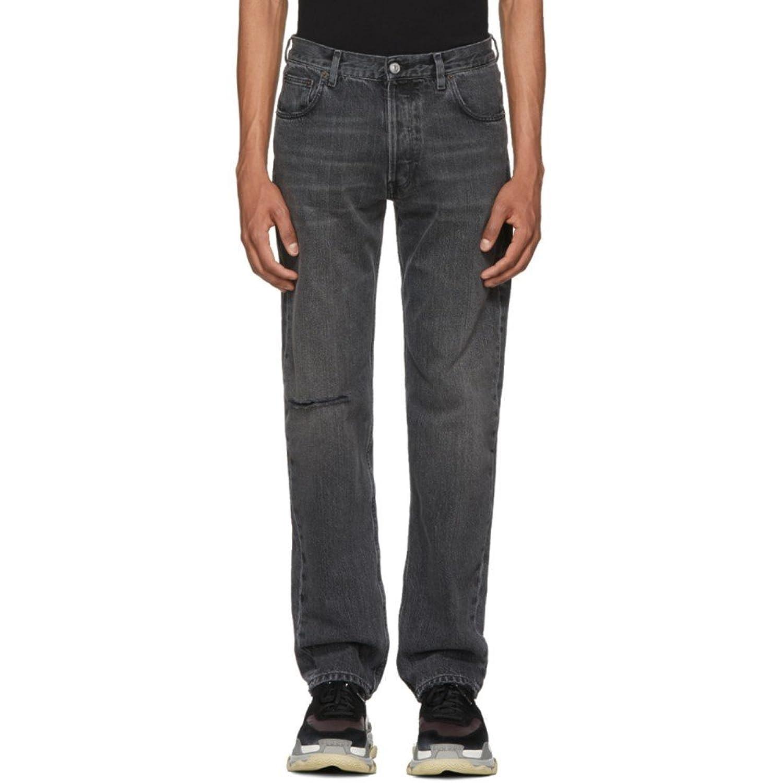 (バレンシアガ) Balenciaga メンズ ボトムスパンツ ジーンズデニム Grey Knee Hole Archetype Jeans [並行輸入品] B07D153QSV US30