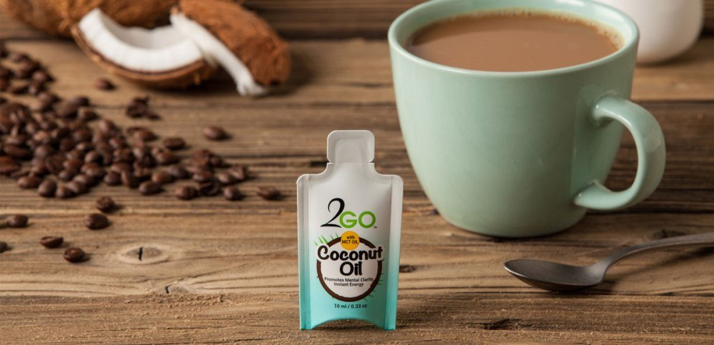 2GO Coconut Oil with MCT Oil - 60 Pack Single Serve Shots