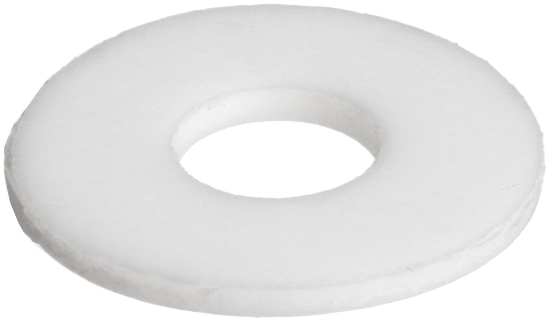 PTFE (Polytetrafluoroethylene) Flat Washer, White, Inch, Made in US ...