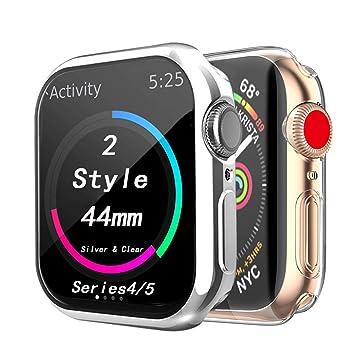 Cerike Compatible Apple Watch 44mm Protector de Pantalla, TPU ...