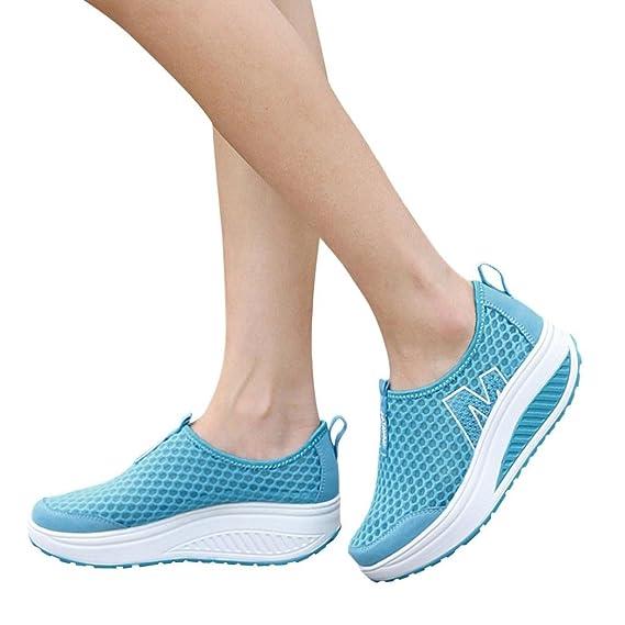 Elecenty scarpa da donna alla moda Scarpe da donna Mocassini Traspirante  Air Mesh Swing Wedges Shoe Scarpe da Corsa Scarpe da ginnastica per donna   ... 593fe1f5656
