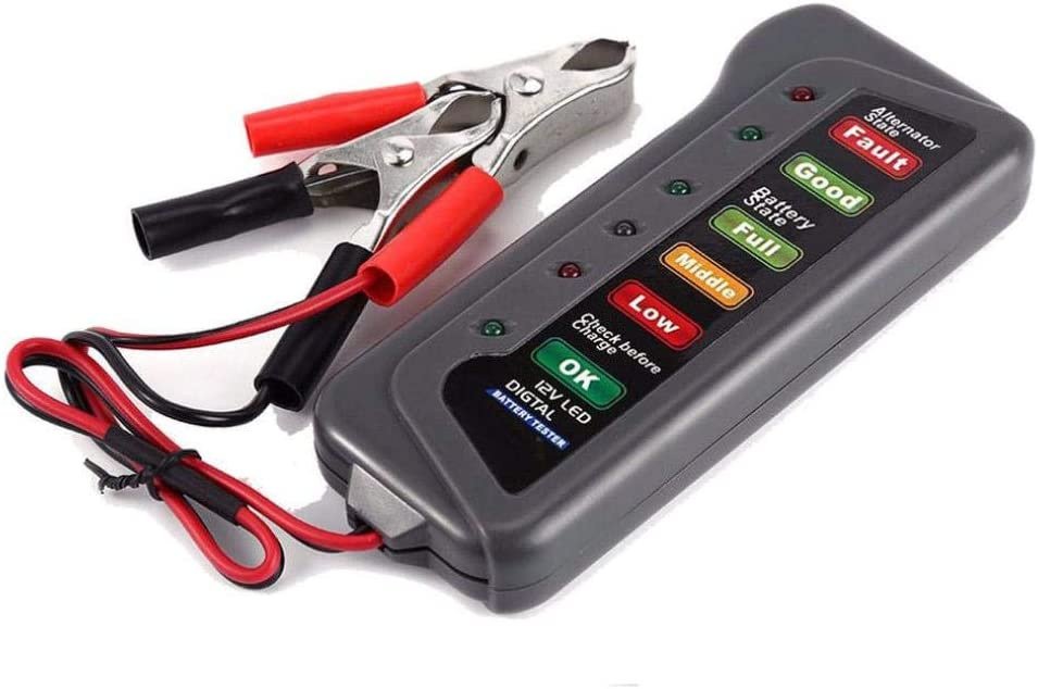 Test Battery Condition /& Alternator Charging for Cars Motorcycle Batteries Black Chartsea 12V Car Battery /& Alternator Tester