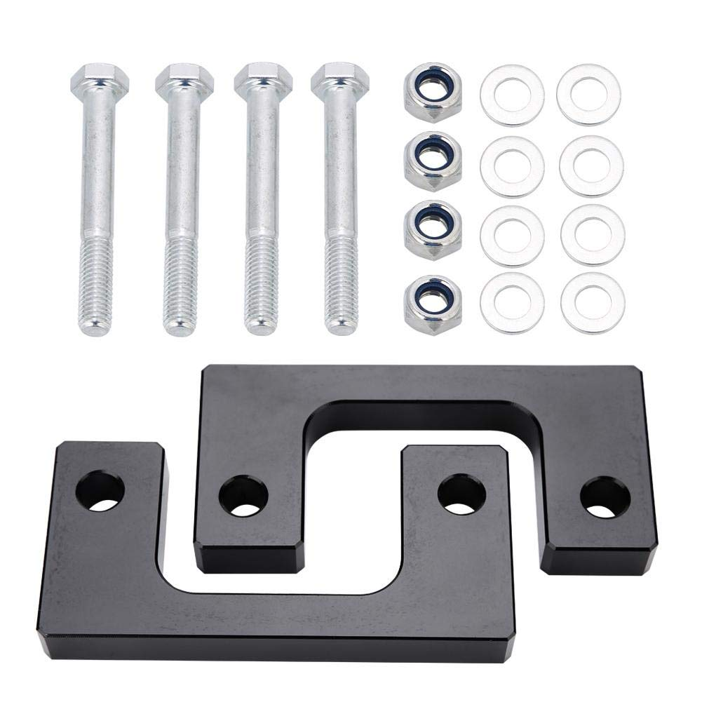 Suuonee Car Front Level Lifting Kit, Front Coil Spring Spacer Leveling Lift Kit Chassis Lifting Parts for Chevy Silverado 2007-2018 GMC Sierra GM 1500 LM(Black 1inch) by Suuonee
