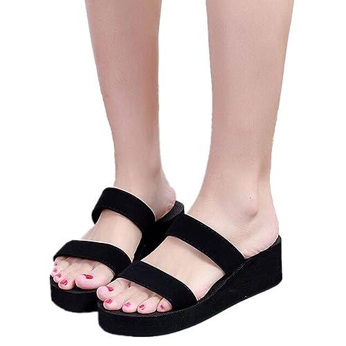 Women Wedge SandalSummer Bohemia Platform Beach Shoe Thick Sole Casual Slippers