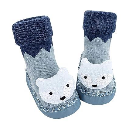 pretty-H Zapatos De Bebé Y Calcetines Otoño E Invierno Algodón Acolchado Bebé Muñeca Niño
