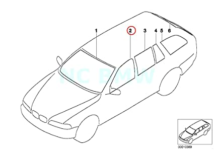 Amazon Com Bmw Genuine Left Green Side Window Automotive