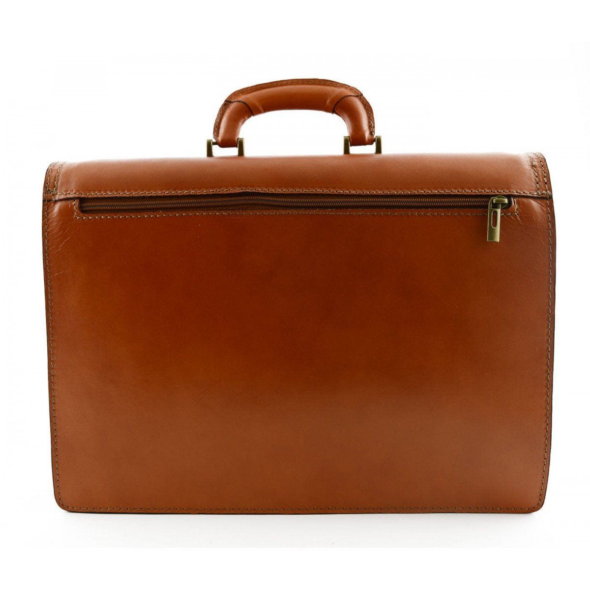 Leather Briefcase Color Cognac