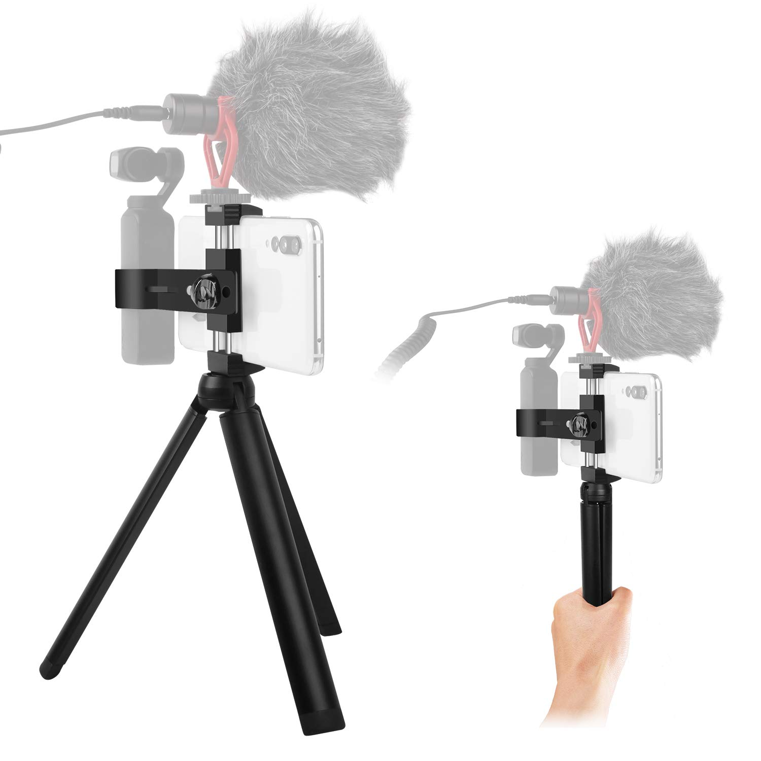 Arzroic Handheld Phone Holder with Tripod Expansion Kit Mount Accessories for DJI Osmo Pocket by Arzroic
